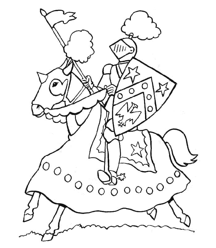 knight coloring pages for kids - photo#12