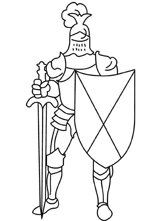 knight coloring pages for kids - photo#9