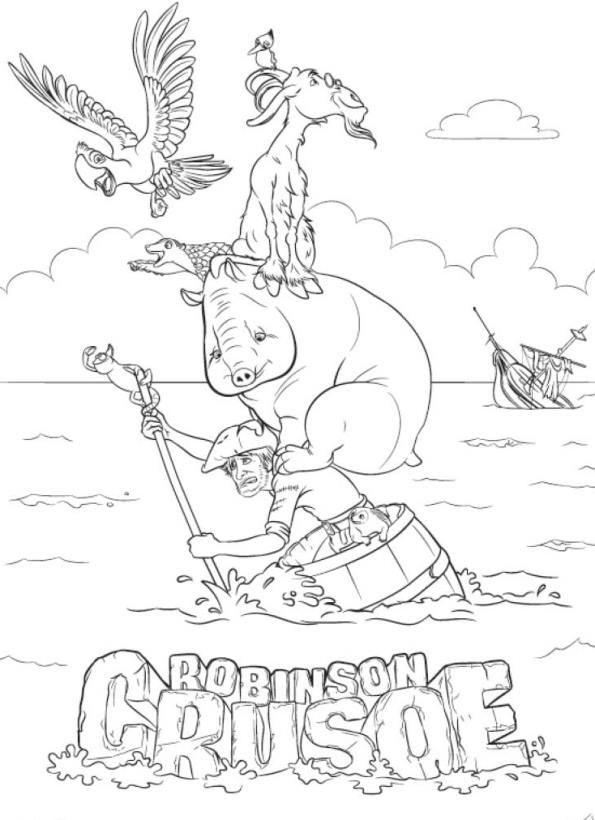 Kids N Fun Com 11 Coloring Pages Of Robinson Crusoe 3d