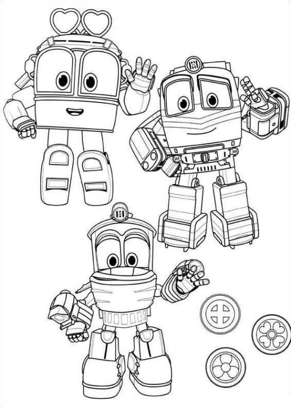 Kidsnfuncouk 15 Coloring pages of Robot Trains