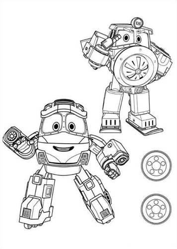 Kids N Fun Com 15 Coloring Pages Of Robot Trains