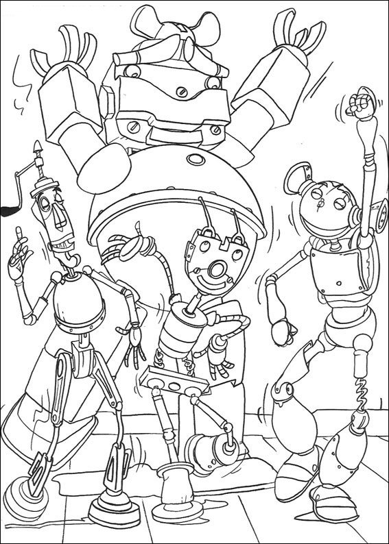 Kids N Fun Co Uk Coloring Page Robots Robots
