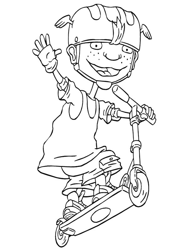 rocket power coloring pages - photo#5