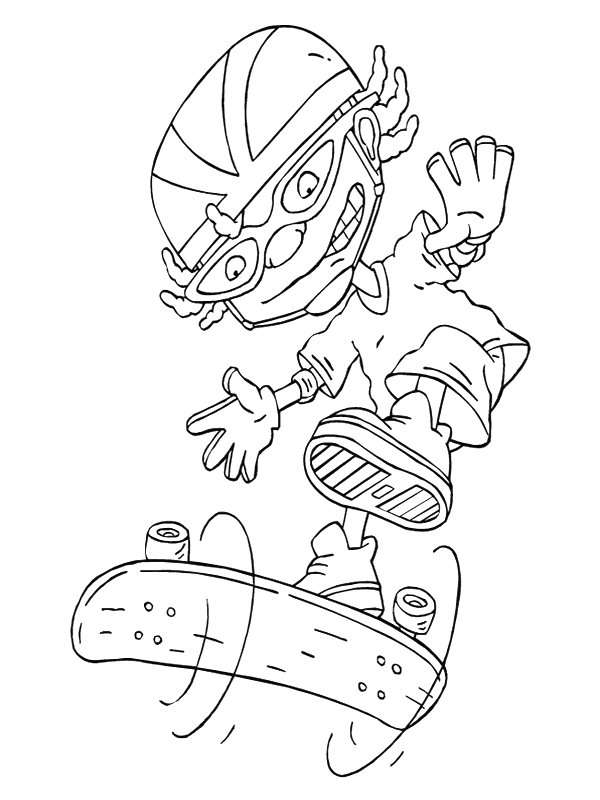 rocket power coloring pages - photo#18