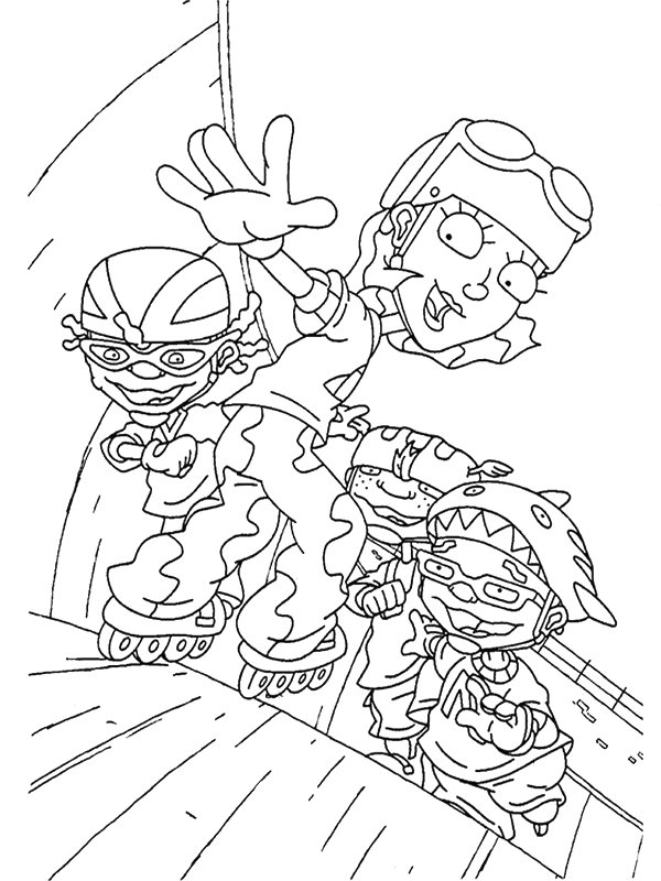 rocket power coloring pages kids n rocket power