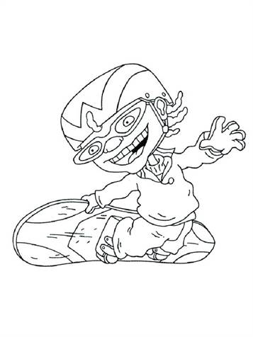 Kids-n-fun.com | 74 coloring pages of Rocket Power