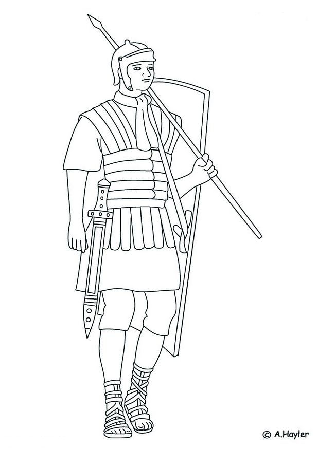 Kidsnfuncom  18 coloring pages of Roman era