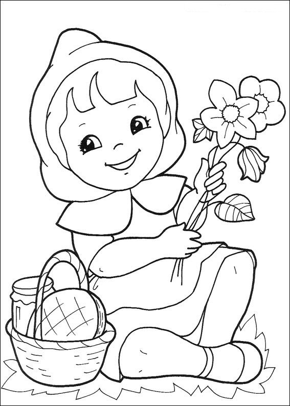 17 little red riding hood coloring pages