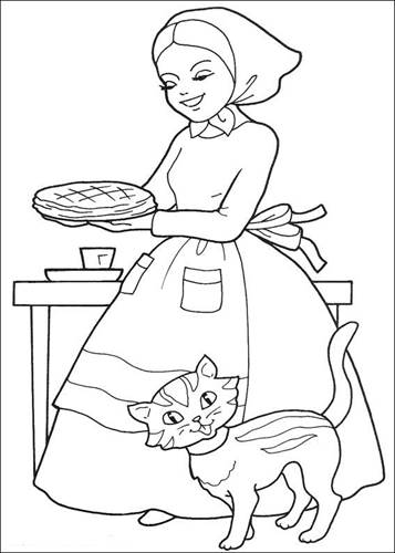 10 Free Printable Little Red Riding Hood Coloring Forkids | Red ... | 500x357
