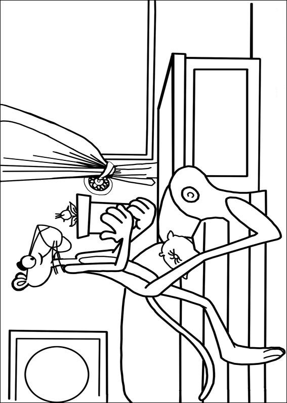 Kids-n-fun.com | 12 coloring pages of Pink Panther