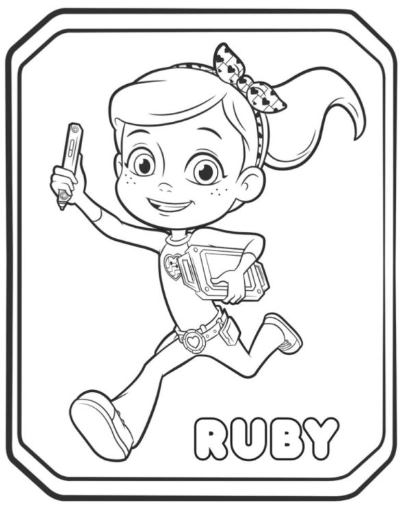rusty rivets coloring pages Kids n fun.| 14 coloring pages of Rusty Rivets rusty rivets coloring pages