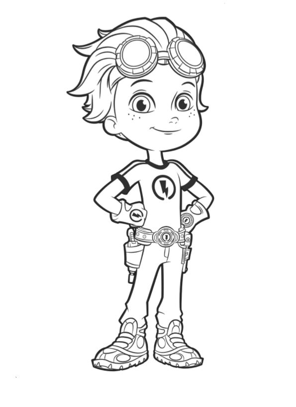 Kids N Fun Com 14 Coloring Pages Of Rusty Rivets