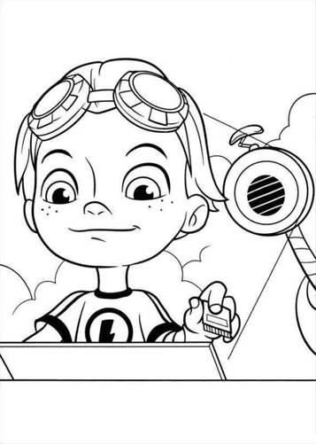 Kids N Fun Com 32 Coloring Pages Of Rusty Rivets