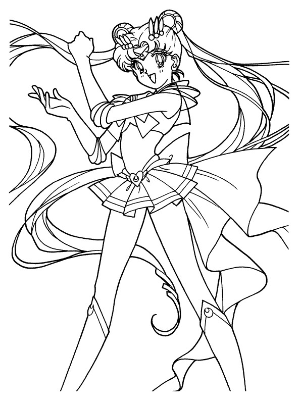 Kids-n-fun.com | 66 coloring pages of Sailor Moon