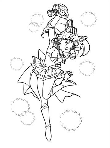 Sailor Moon Luna Coloring Pages - Coloring Home | 481x357