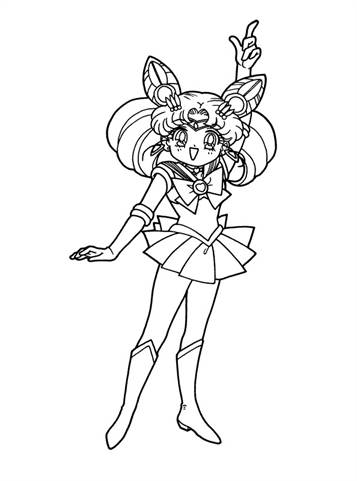 Coloring Page Tv Series Coloring Page Sailormoon | PicGifs.com | 481x357