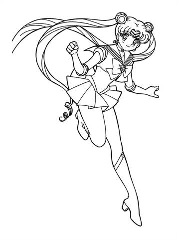 Coloring page Sailor Moon Sailor Moon | Moon coloring pages ... | 481x357