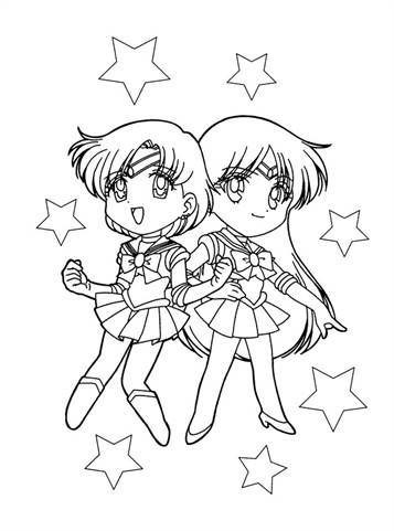 Free Printable Sailor Moon Coloring Pages For Kids | Moon coloring ... | 481x357