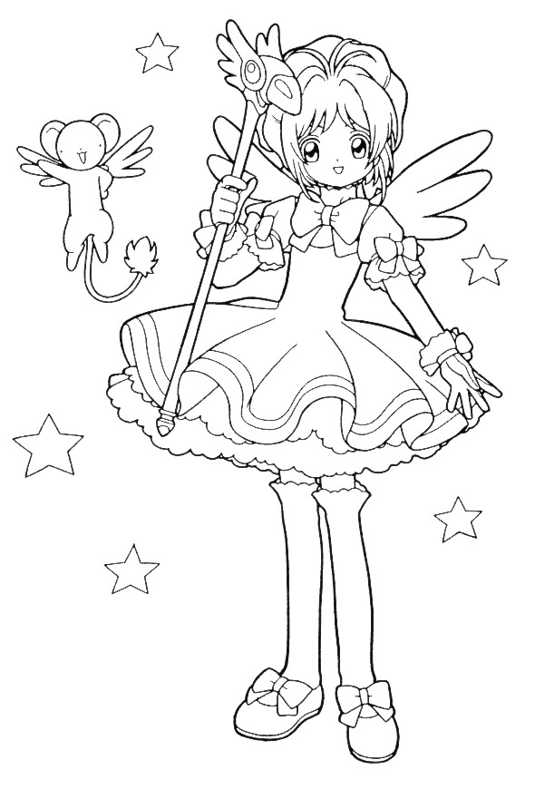 Kidsnfun 25 coloring pages of Sakura
