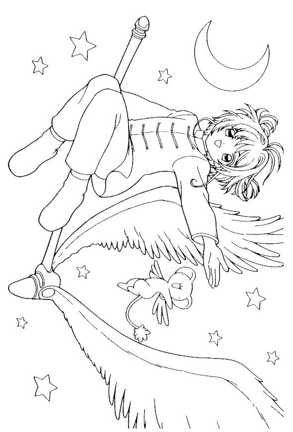 kids n fun com 25 coloring pages of sakura - Cardcaptor Sakura Coloring Pages