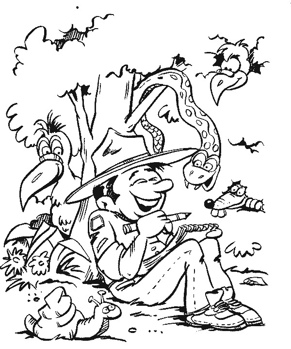 n 19 coloring pages of scouting