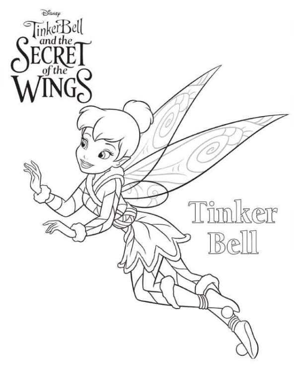secret of the wings coloring pages - kids n 15 coloring pages of tinkerbell secret of