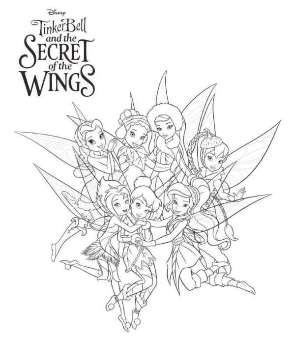 n 15 coloring pages of tinkerbell secret of