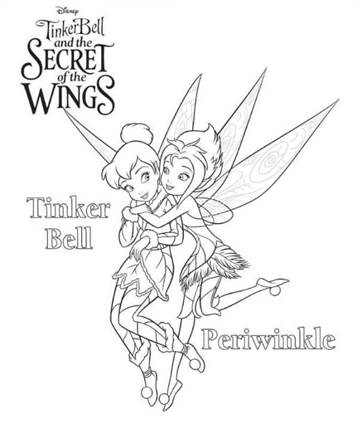 Tinkerbell coloring pages on Coloring-Book.info | 443x357