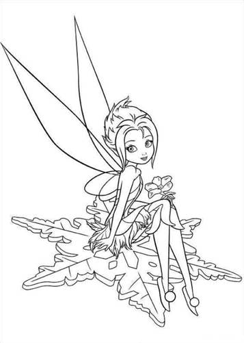 alphabet coloring sheets: Tinkerbell Coloring Pagesthinking Reverie | 501x357