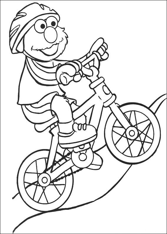 Kleurplaat Mountainbike Kids N Fun Com 17 Coloring Pages Of Sesame Street Sports