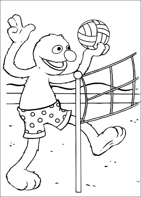 Kids N Fun Com 17 Coloring Pages Of Sesame Street Sports
