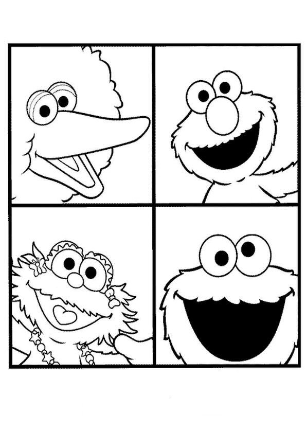 sesame street coloring pages free printable colouring for