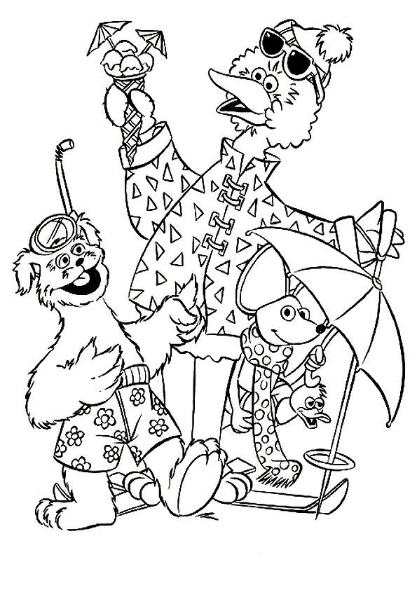 sesamstraat coloring pages - photo#4