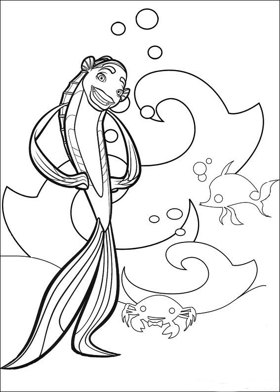 Kids-n-fun.co.uk | 13 coloring pages of Shark Tale