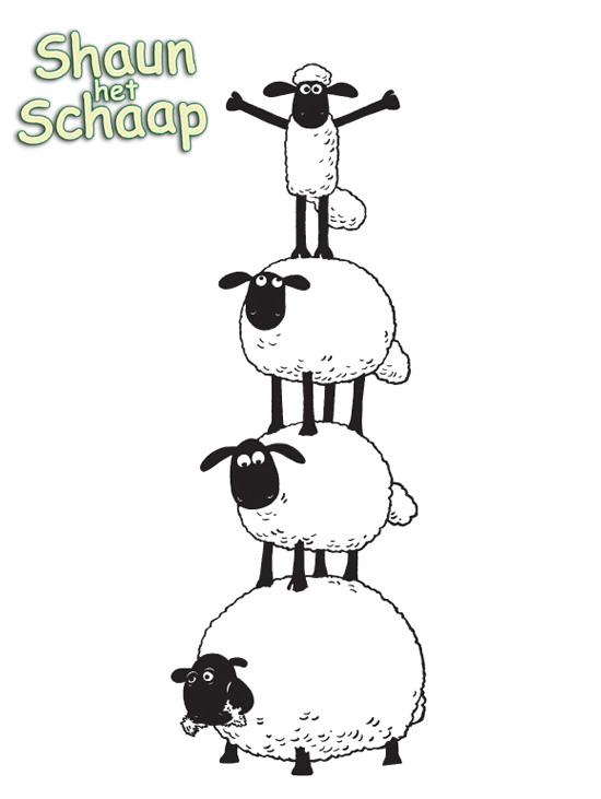 Kids N Fun Com Coloring Page Shaun The Sheep Shaun The Sheep Shaun The Sheep Colouring Pages