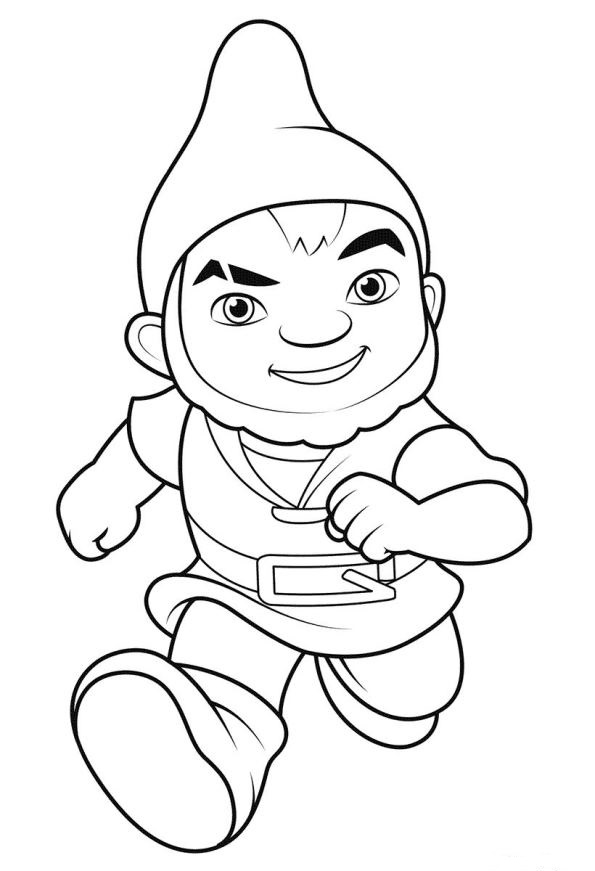 Kidsnfuncom 8 coloring pages of Sherlock Gnomes