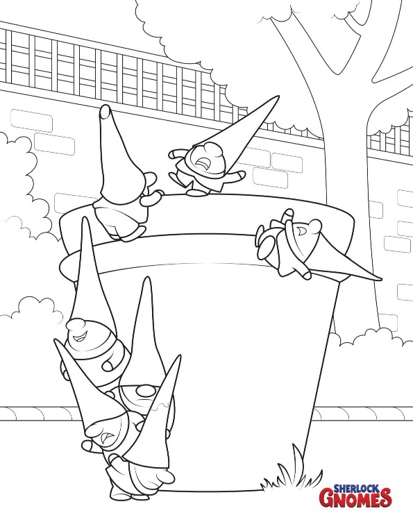 8 Coloring Pages Sherlock Gnomes