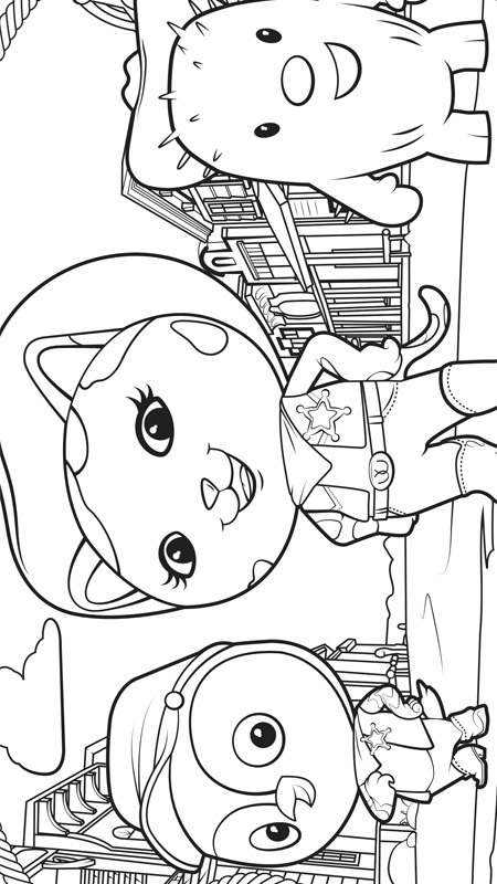 Kids n funcom 8 coloring pages of Sherrif Callie