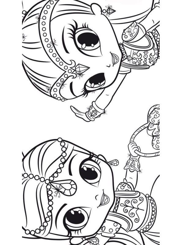 Kids-n-fun.com   Create personal coloring page of Shimmer ...