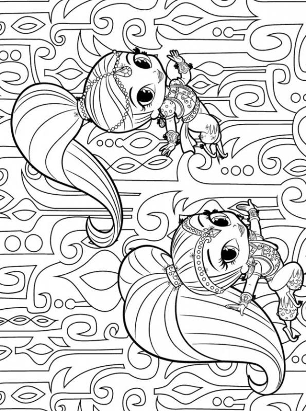 - Kids-n-fun.com Coloring Page Shimmer And Shine Shimmer And Shine