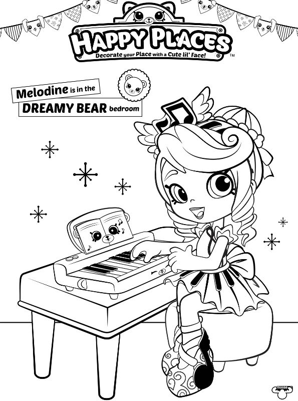 Kids N Fun Co Uk Coloring Page Shopkin Shoppies Shopkins Doll Melodine