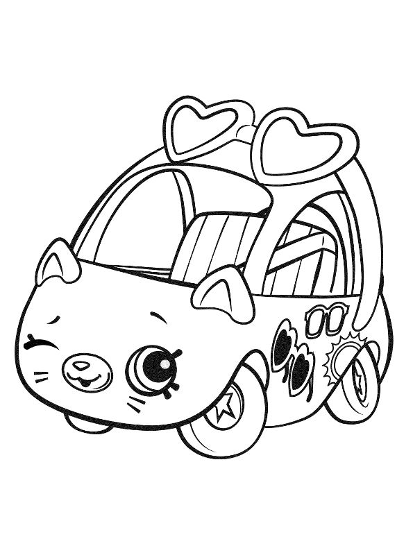 Kids-n-fun.com | Coloring page Shopkins Cutie Cars ...
