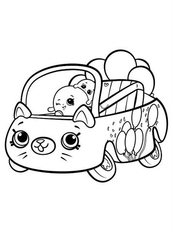 Kids N Fun Com 10 Coloring Pages Of Shopkins Cutie Cars