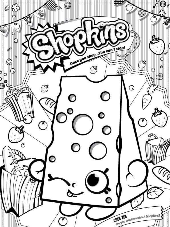 Kids N Fun Com Coloring Page Shopkins Chee Zee