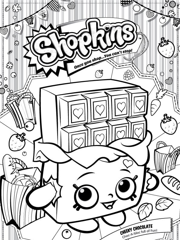 Kids N Fun Com Coloring Page Shopkins Cheeky Chocolate