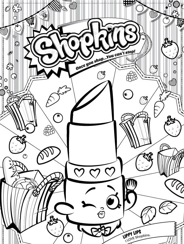 Kids N Fun Com Coloring Page Shopkins Lippy Lips