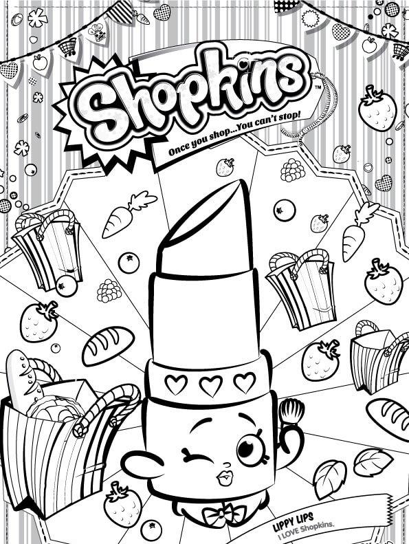 Kids N Fun Co Uk Coloring Page Shopkins Lippy Lips