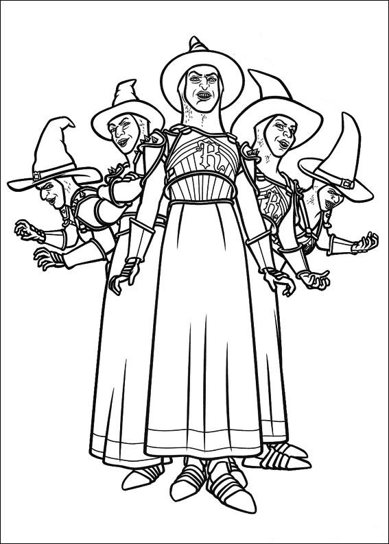 shrek forever after coloring pages - photo#31