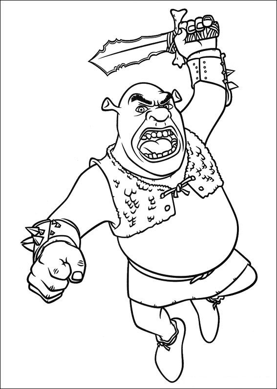 Kids N Fun Com 59 Coloring Pages Of Shrek 4 Forever After Shrek Coloring Pages