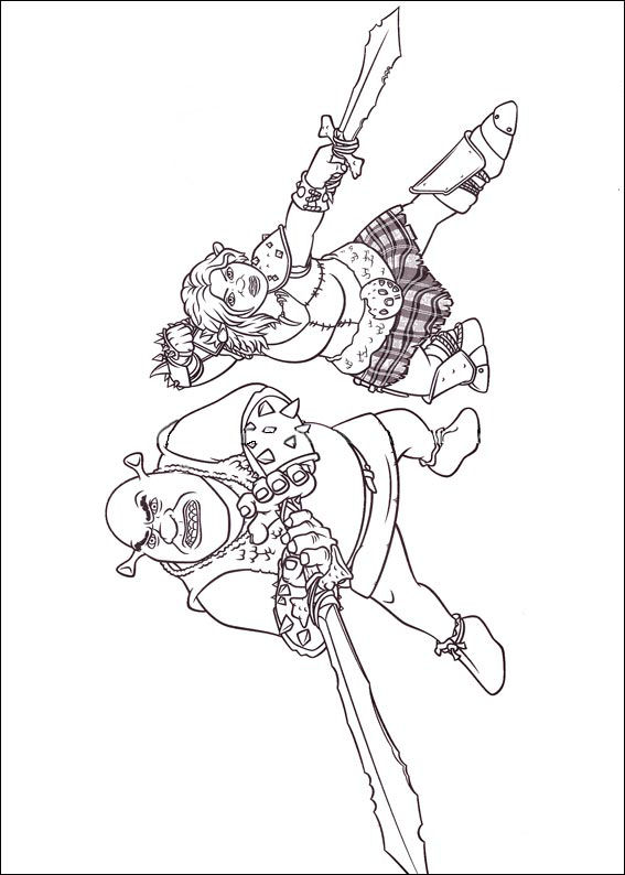 shrek forever after coloring pages - photo#17